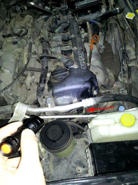 Где находится датчик коленвала ниссан альмера н16 проводов системы управления двигателем