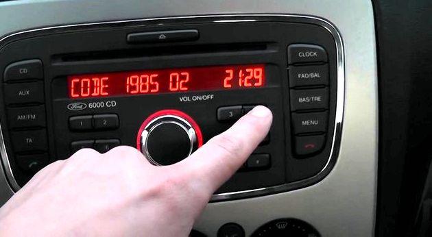 Как ввести код магнитолы форд фокус 2 Не пытайтесь подобрать код