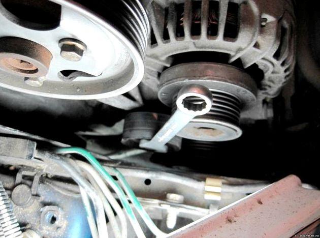 Рено логан замена приводного ремня варианте без ГУРа ремень