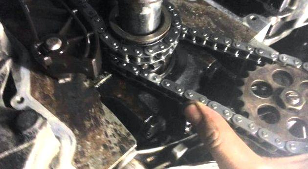 Замена цепи масляного насоса рено логан немного вниз