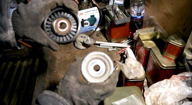 Замена ролика натяжителя ремня генератора хендай солярис ролик натяжителя на Солярисе