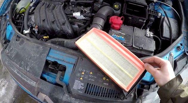 Замена воздушного фильтра рено дастер даже при предельных нагрузках мотора